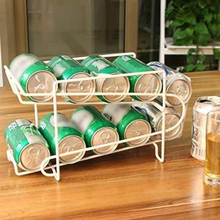 缶収納ラック 冷蔵庫収納ラック 缶ストッカー キッチン収納 コンパクト 最大350mlの10缶収納 二重仕上げラック デスクシェルフ 卓上収納 缶・ビール・炭酸飲料収納ラック(T-A)