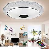 LED Deckenleuchte 36W Deckenlampe mit Fernbedienung Bluetooth Lautsprecher RGB Wohnzimmerlampe Dimmbar APP Steuerung Farbwechsel Kinderzimmerlampe für Wohnzimmer Kinderzimmer[Energieklasse A++]