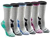 Dickies Women's Dritech Advanced Moisture Wicking Crew Sock (6/12, Grey Assorted (6 Pairs)