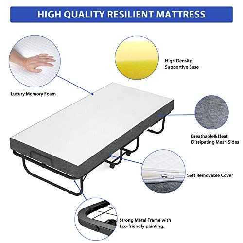 Foxemart Folding Bed with Mattress