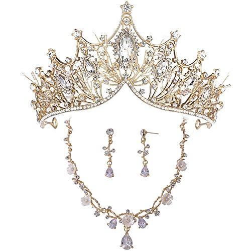 Tiara de boda para novia, corona de cumpleaños de princesa, accesorios para...