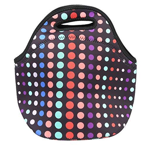 Sac de pique-nique en maille double couche Sac multifonction à glissière avant Sac à lunch thermique isolé de haute qualité, pour la natation en camping, pour la(Small color circle)