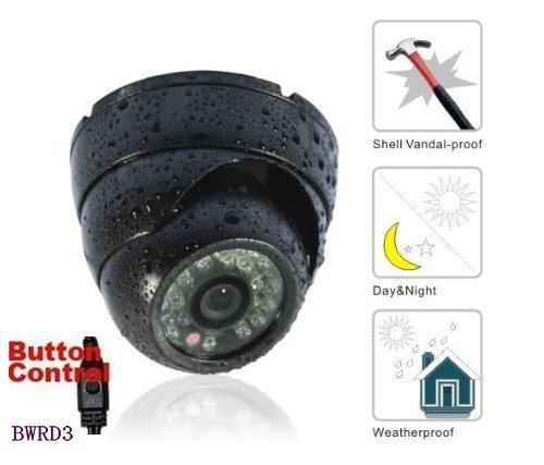 BW CCTV 700 TVL Sony CCD - Cámara de vigilancia para techo (antirrobo, resistente a la intemperie, carcasa de metal), color negro