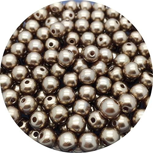 TFGUOqun Cuentas Sueltas, 8mm acrílico Espaciador Perlas de imitación Perlas de imitación Redondas Sueltas Perlas para joyería Haciendo Bricolaje Perlas Perlas Perlas para Hacer Joyas DIY (Color : M)