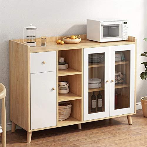 QinWenYan Credenza Casa per tè Cabinet Moderno Modern Minimalist Cabinet Home Cucina Soggiorno Governo Armadio Armadio da tè Armadio angolare per Ingresso (Colore : Beige, Size : 93.5x40x120cm)