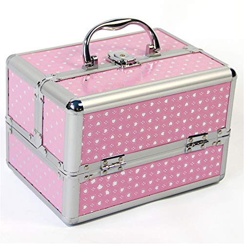 CCHM Voyage Maquillage Organisateur Mignon De Stockage Portable Boîte À Bijoux Boîte À Cosmétiques Conteneur pour Sac Valise,Pink
