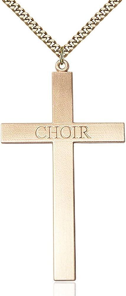 Bonyak Jewelry Gold Filled Choir Cross Pendant 3 Ranking TOP3 5 8 X inc 2 online shop 1