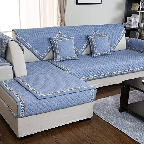 BASA Tuinmeubelhoes, vierzits slaapbank, eenvoudig en stofdicht meubilair 90*160cm Blauw