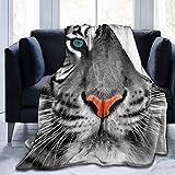 AEMAPE Manta de Tiro de Piel sintética de Tigre, Manta Suave de Franela cálida para Cama, sofá, Silla, Manta de Cama Ligera, para Todas Las Estaciones
