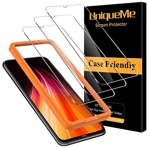 [3 Pack] UniqueMe Protector de Pantalla Compatible con Xiaomi Redmi Note 8T Cristal Templado, [9H Dureza ] [Sin Burbujas] HD Film Vidrio Templado