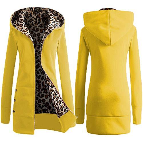 Winter Kapuze Dicken Leopardenmuster Plus Samtpullover Plus GrößE Jacke Frauen