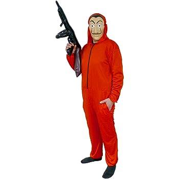Disfraz de Casa de Papel Talla XL con Máscara Mono Rojo y ...