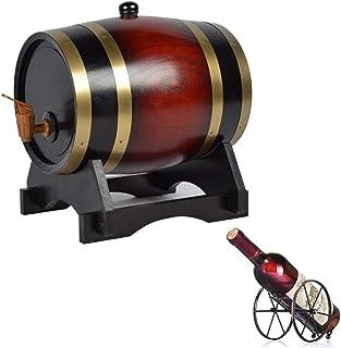 ZGQJT Fût de Whisky 3L, Distributeur de Vin en Chêne Utilisé pour Afficher sur la Table Afficher Le Whisky Bière au Vin av...