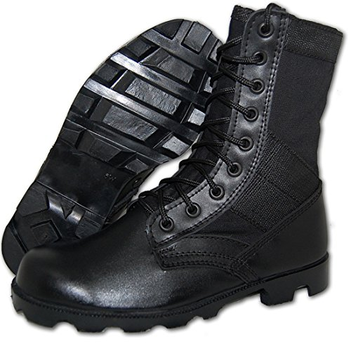 Krazy Shoe Artists Combat Jungle Boot Men in Black (11 US)
