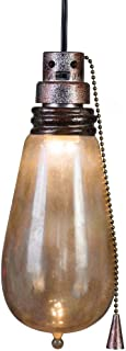 Gemmy Short Circuit Rusty Attic Light Bulb - Indoor Holiday Decoration, 10-Inch Height x 4-Inch Width