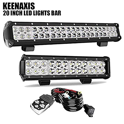 KEENAXIS DOT Approved LED Light Bar Offroad W/Rocker Switch Wiring Harness For Truck Ford Chevy Jeep Wrangler JK Chevrolet Silverado Pickup