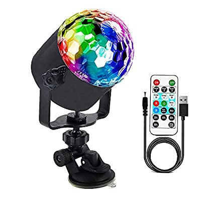 Disco Lights,Sound Activated Magic Ball Light,Colorful Disco Ball LED Lights With Remote Control,USB Power Cable for Party Christmas Festival KTV Bar Lawn Indoor and Outdoor