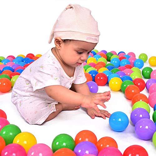Pelotas para pelotas, pelotas para niños para pelotas, pelotas de plástico para bebés, en calidad de jardín de infantes y comercial sin plastificantes peligrosos (200 piezas / juego de 2,1 pulgadas)