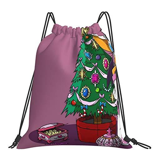 So-n-ic Brother Adventure Rucksack mit Kordelzug, für Sport, Reisen, Fitnessstudio, Yoga, Strand, Tagesrucksack Gr. One size, R-o-uge The B-at So-nic Weihnachtsbaum