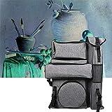 Staffelei Art Test-Studenten Verwendung Multi-Funktions-Rucksack wasserdichte bewegliche Tasche Art Taschen Shop HUYP (Color : Gray)