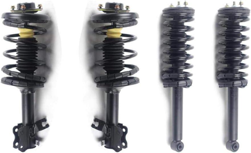 67% OFF of fixed price JUN 4pcs Front Rear Side Compatibl Strut Complete Popular brand Shock Spring