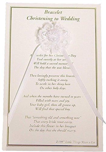 Girls Christening to Wedding Bracelet (One Size/White)