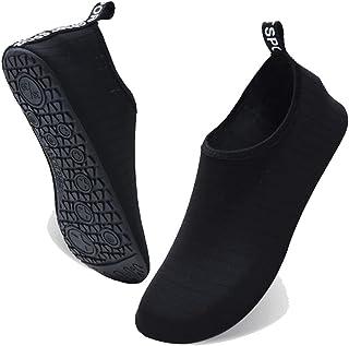 ELECDON Water Shoes for Women Men Kids, Barefoot Quick-Dry Aqua Water Socks Slip-on Swim Beach Shoes for Snorkeling Surfin...