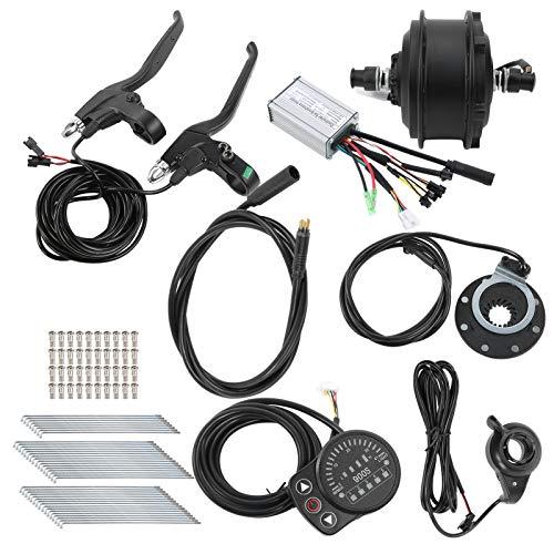 Keenso Kit de conversión de Bicicleta eléctrica, 48 V 250 W 24 Pulgadas Kit de conversión de Bicicleta electrónica Control de Cubo de Motor sin escobillas Kit de conversión(Motor Delantero)