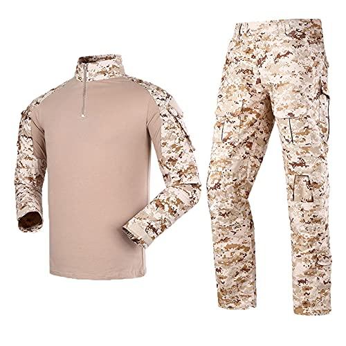Tácticas Militares Uniforme De Combate Para Hombres Traje Camisa Y Pantalones Traje Uniforme De Camuflaje Traje De Rana Uniforme De Camuflaje Deportes Al Aire Libre,A,XXL