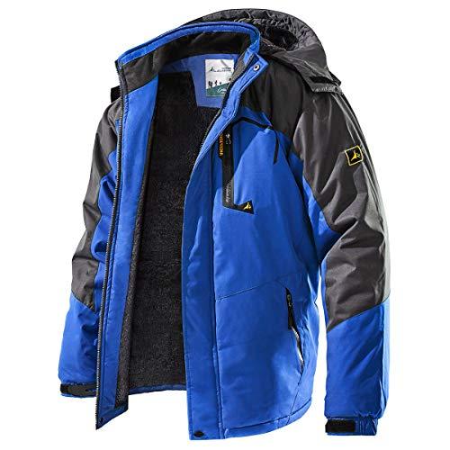 TREKEK Men's Winter Ski Jacket Warm Fleece Waterproof Outdoor Mountain...