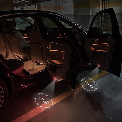 Besdata 2 x Car Door Shadow Welcome Logo 3D Laser Light Projector Welcome Light LED Door Light