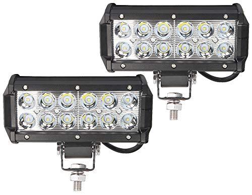 Ishima 2x 36W LED Arbeitsscheinwerfer Zusatzscheinwerfer Arbeitslicht Offroad LED Flutlicht IP67 Wasserdicht Rückfahrscheinwerfer Reflektor Scheinwerfer 12V 24V für UTV ATV Trecker KFZ Bagger