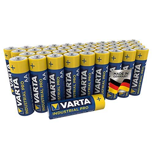 VARTA Industrial Batterie AA Mignon Alkaline Batterien LR6-40er Pack, Made in Germany, umweltschonende Verpackung