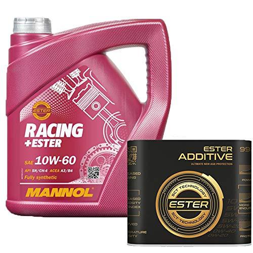 4 Liter, MANNOL 7902 Racing + Ester 10W-60 inkl 9929 Motoröladditiv