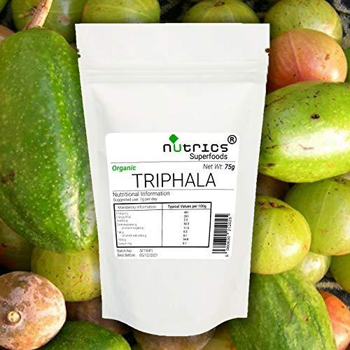 Nutrics® 100% Reines Bio-Triphala Pulver 75 g Indische Stachelbeere