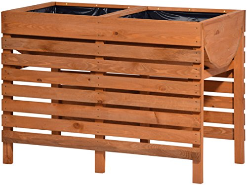 dobar 58150FSCe lit décoratifdécoratif en bois surélevé (pin): kit Tischbeet pour les légumes, les herbes, les fleurs, la literie être placés de manière flexible dans le jardin, terrasse, balcon, 100 x 50 x 71 cm - lit de plante surélevé