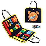 Toddler Toys for 1 2 3 4 Years Old Girls Boys, Busy Board Montessori Toys for Toddlers Age 1 2 3 4, Sensory Toys Gift for 1-4 Years Old, Preschool Learning Toys Autism Toys for Develop Basic Skills