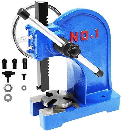 SENDUO Arbor Press 1 Ton,Ratchet Leverage Arbor Press with Handwheel,Manual...