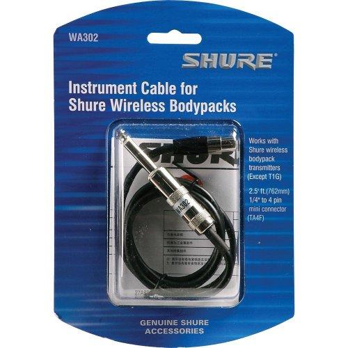 シュアー SHURE ボディーパック型送信機用接続ケーブル0.76m WA30