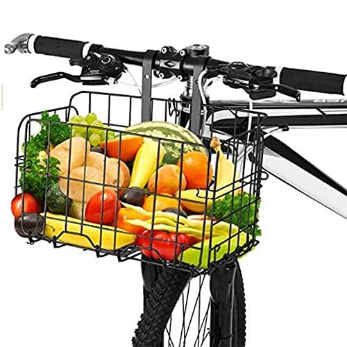 自転車かご 自転車カゴ 折りたたみ式 簡単脱着 耐荷重25KG 前かご 後ろかご バスケット 自転車 マウンテンバイククロスバイク 折り畳み自転車 通勤車等用