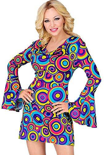 70er Jahre Retro Kostüm Bubbles für Damen - Kleid - Mehrfarbig - Gr. L