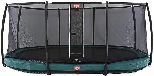 BERG Trampoline Grand Champion InGround 520 Vert + Filet de securite Deluxe
