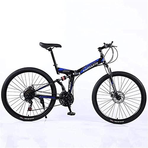 ASDF Bicicleta de montaña para Adultos - Bicicleta de montaña Plegable de 24 Pulgadas para Adultos, Velocidad Variable, Ligera, Mini Bicicleta pequeña para Estudiantes, Freno de Disco Doble, Bici