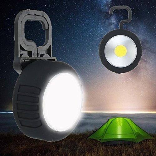 Global LED - Linterna magnética para acampada, con gancho