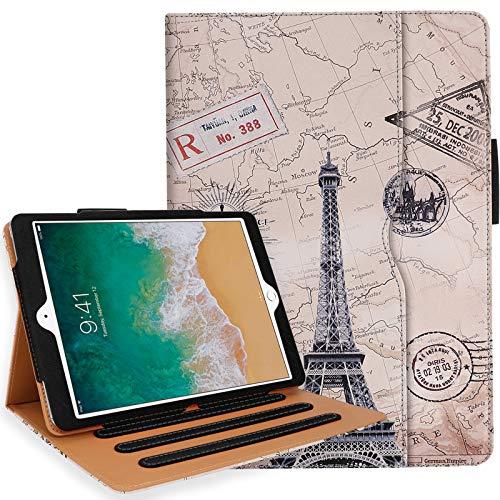 iPad 10.2 Case, iPad 7th Generation Case with Pencil Holder - Multi-Angle Stand, Hand Strap, Auto Sleep/Wake for iPad 7th Gen, iPad 10.2 2019(Travel)