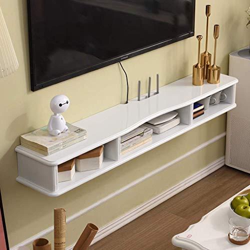 ZXYY wandrek, drijvend, TV-kast, wandkast, om op te hangen, routerset, voor hogere decoder, dvd-speler, plank, houder, tv-display, multifunctioneel, (Cou 140cm-white