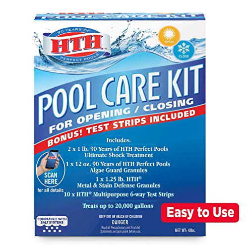 HTH 91021 Pool Care Kit Opening and Closing Maintenance Bundle