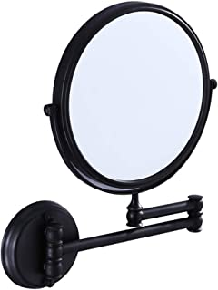 Bathroom Vanity Magnifying Mirror, Makeup Round Wall Mounted Mirror Two Sided Cosmetic Mirror, 360 Rotatable, Extendable Arm for Bedroom