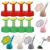 Jicyor 13pcs Plástico Cabezales para Riego Botellas Duraderos Exquisitos Regadera de Botella Tapa para el Hogar para Flores Hierba Vegetales Plantas Macetas Jardín
