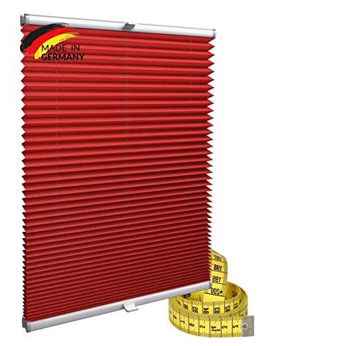 Gardinen21 Plisseerollo ohne Bohren | Plissee-Klemmfix | Plissee 50x100 für Türen & Fenster | Sonnenschutz, Sichtschutz für Fenster, Blickdichte Rollos